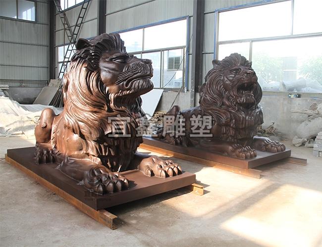 铜雕雕塑可以用废金属制作