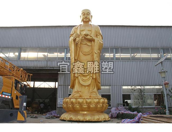 10 米高地藏王菩萨铜雕塑