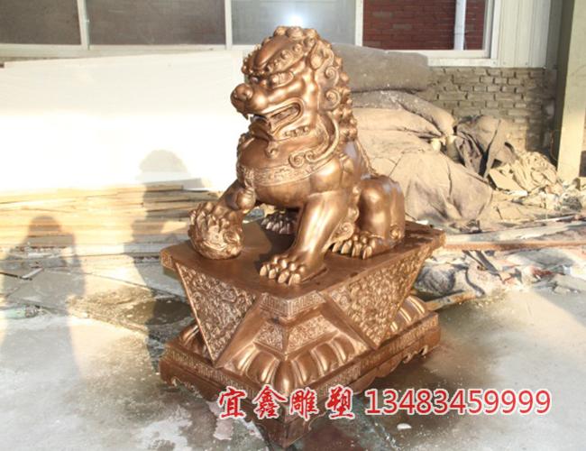 铜狮子铸造厂解说为何故宫狮子不让摸